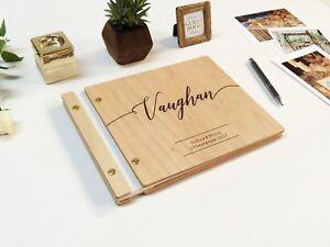 Modern Wooden Wedding guest book Customized Polaroid guest book ...