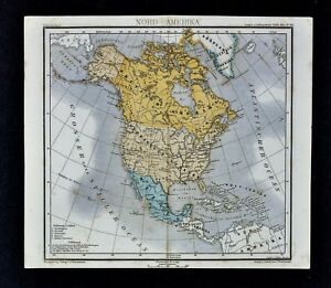 Map Of America Ebay.Details About 1875 Lange Map North America Canada Mexico Alaska United States Territories