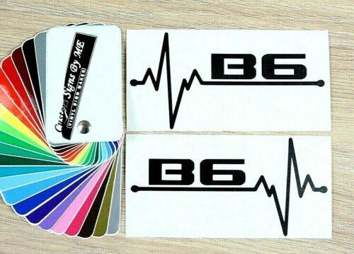 2x Audi B6 EKG Car Side Window Mirror Stickers Bumper Vinyl Decal Adhesive Black