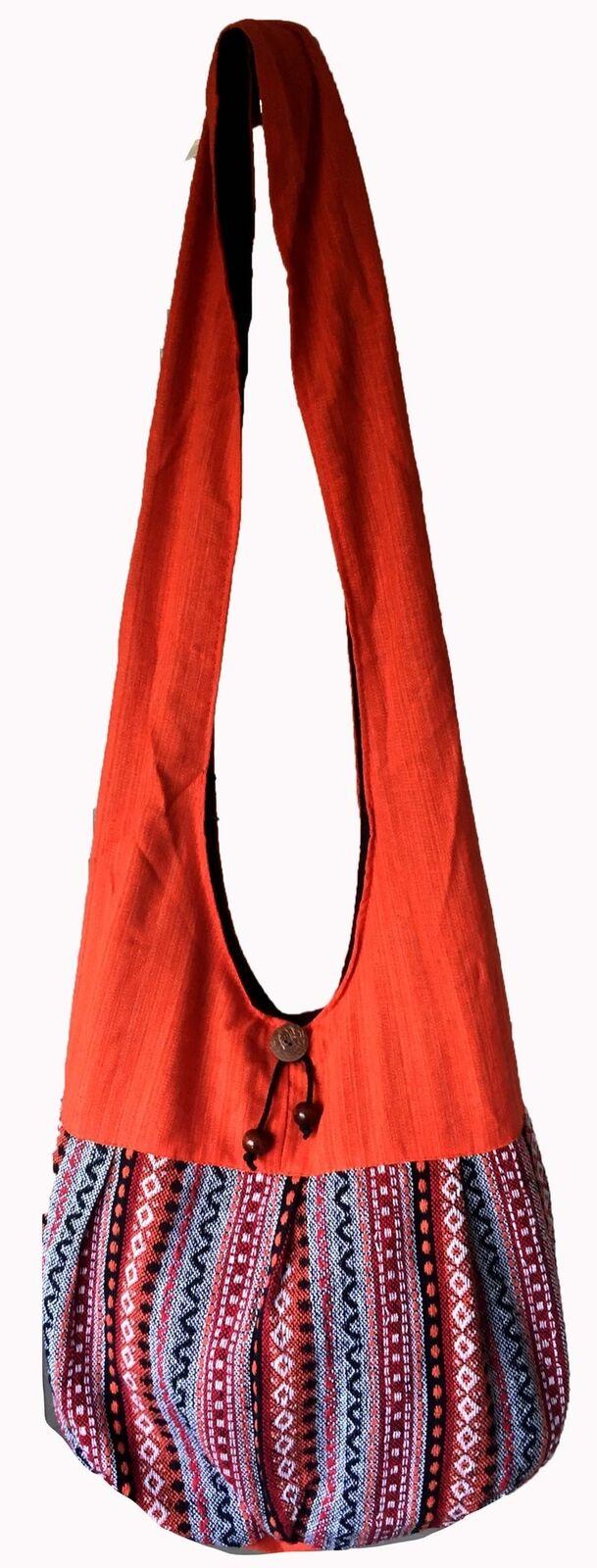 Shoulder bag Women - Crossbody bags - Hippie boho bag Ethnic Sling Cotton Hippy