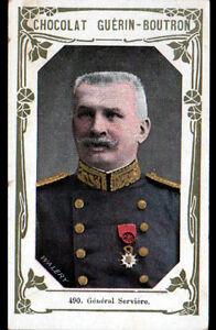 IMAGE-CHOCOLAT-GUERIN-BOUTRON-Militaire-GENERAL-SERVIERE-du-19-CORPS-a-ALGER
