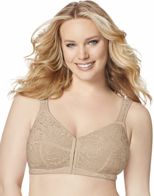 011x10 Just My Size 1107 Front Close Wirefree Bra 44dd Beige for sale online