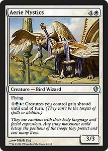 X4 Aerie Mystics-QUASE PERFEITO-comandante Magic The Gathering 2013 Cartas De Magic Branco Uncommon