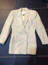 Gorgeous Designer ESCADA Wool & Cashmere Blend Cream Jacket 8/10 Eur 36