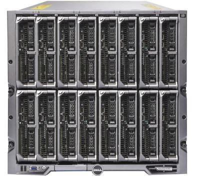 Dell PowerEdge M1000E Chassis W/ 16x M620 Blade Server 32x E5-2640