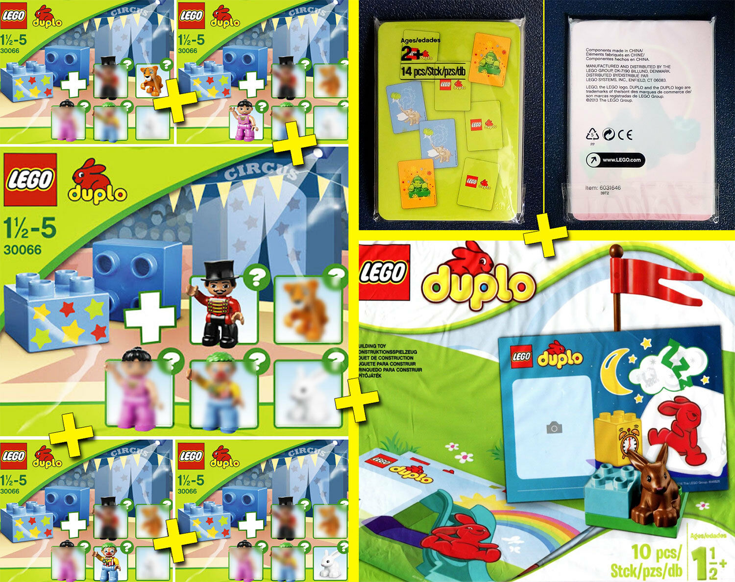 LEGO DUPLO Circus + Stand + Memory Game - 100% NEW