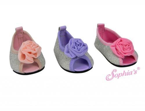 "Pink Sequin Peep Toe Ballerina Flat dress shoes fits 18/"" American Girl Dolls"