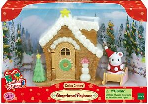 Sylvanian Families Calico Critters Santa Gingerbread Playhouse Christmas Set