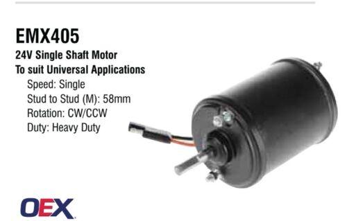 Blower Fan Motor 24v Single Shaft 1 Speed Universal Heavy Duty