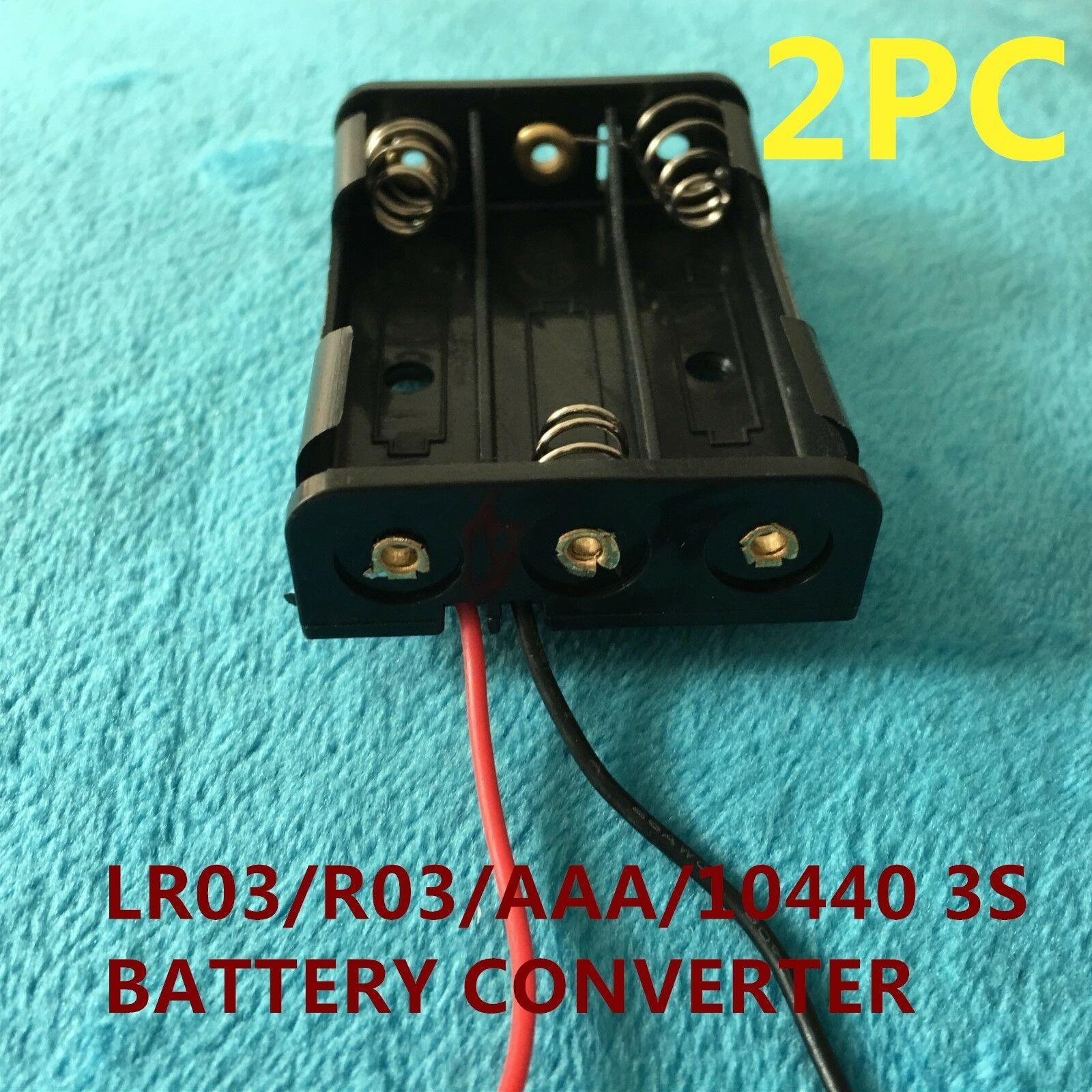 2PC THREE slot clip plastic connector holder for LR03 R03 AAA 10440 DRY BATTERY