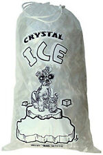 20 Lb Lbs Commercial Ice Bags Bag With Drawstring 510253550100300400500