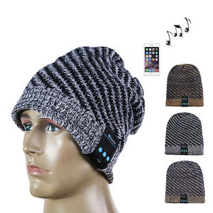 Wireless Bluetooth Beanie Wool Hat Warm Smart Cap Headset Headphone ... a2e311b8f33