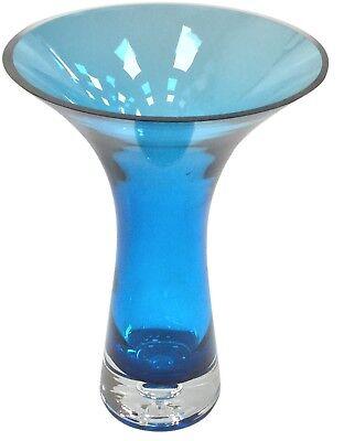 Large Wide Mouth Tall Vase Crackled Glass Effect Flower Vase Blue Green Pink