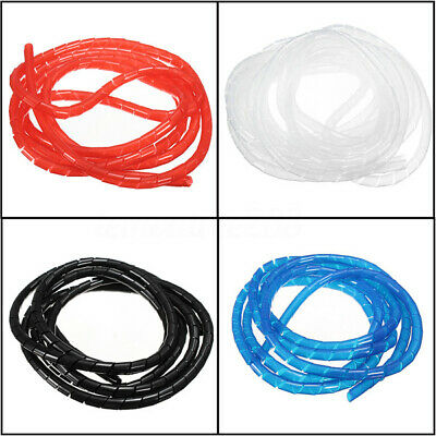 5M Flexible Kabelspirale Kabelschlauch Ø 12mm Kabelschutz Kabelbündler Schwarz N