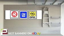 GM Motorsport Workshop Garage Banner Vauxhall, Cavalier, Opel Manta, GTE, SRI