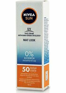 Nivea Sun UV Sunscreen Face Shine Control Cream for Mat Look SPF50, 50ml mat loo