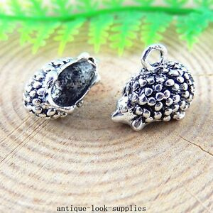 20pcs-Antique-Silver-Alloy-Hedgehog-Charms-Pendants-Jewellery-Findings-51254