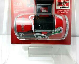1998-Coca-Cola-Can-35mm-Camera-Flash-Focus-Indoor-Outdoor-NIP-Coke-Sealed-NOS