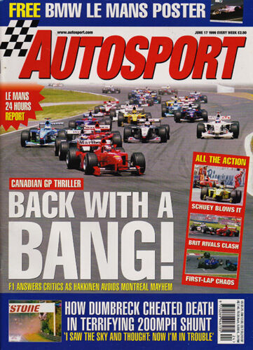Autosport 17 Jun 1999 Goodwood Festival of Speed, Le Mans 24 Hrs, Schumacher.