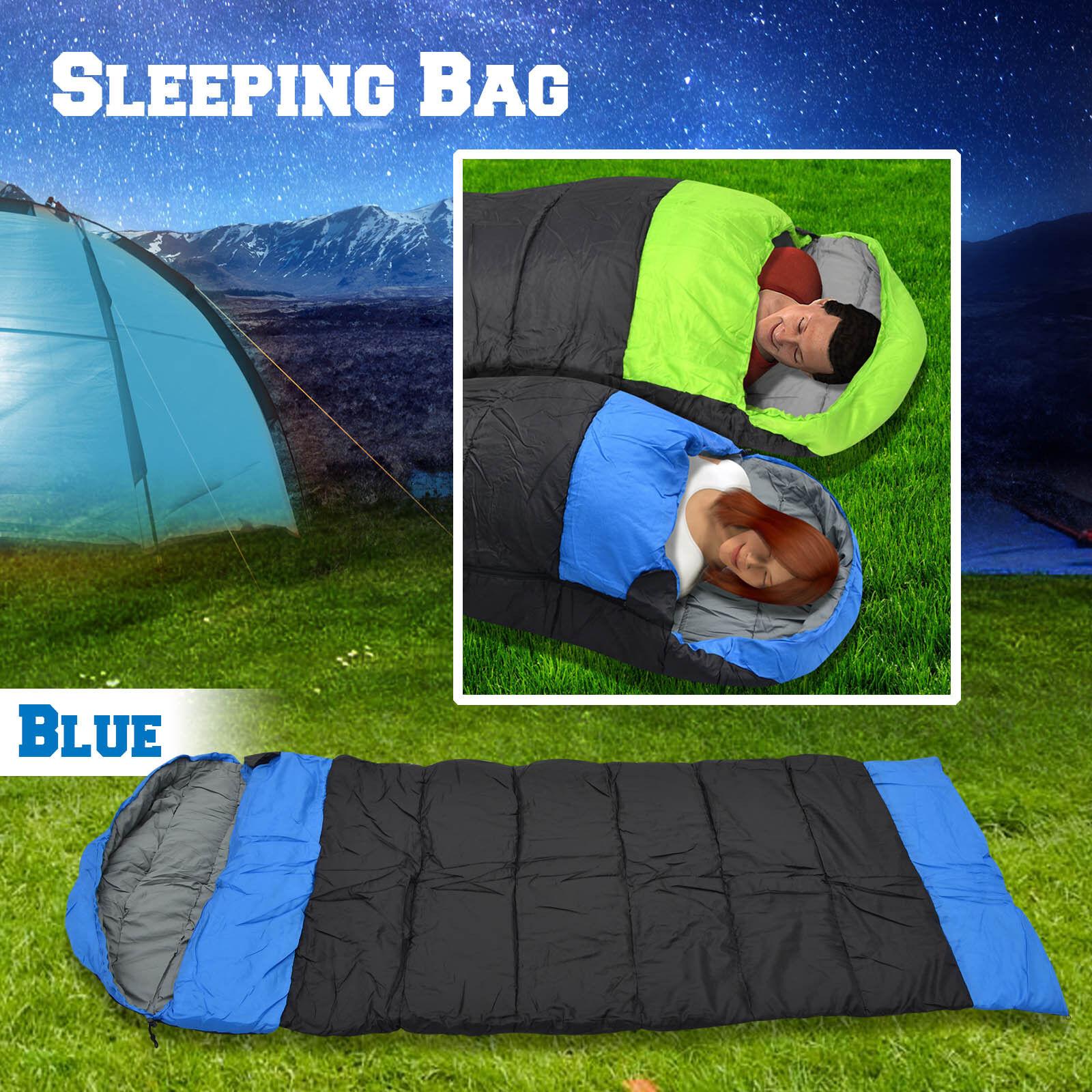 Hooded Sleeping Bag Camping Travel Envelope Blanket Sleep Bag Outdoor Up to 19℉