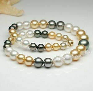 12mm-SOUTH-SEA-AA-A-WHITE-BLACK-GOLD-PEARL-NECKLACE-14K