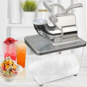 Commercial Electric 350W Machine Stainless Steel Ice Crusher 660lbs 2 Blade Box