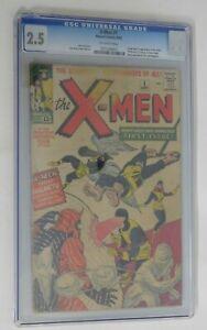 X-MEN #1 - CGC 2.5 - X-Men Origin and 1st Appearance - 1963 Marvel Vintage Comic