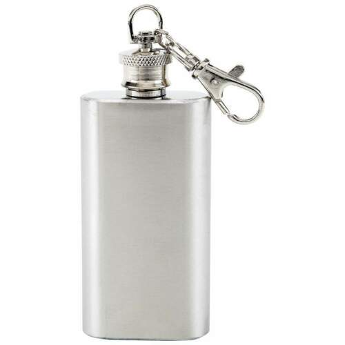 Maxam 2oz Stainless Steel Small Portable Keychain Flask