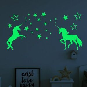 Luminous-Unicorn-Wall-Stickers-Kids-Room-Home-Decor-Glow-In-The-Dark-Stars-Decal