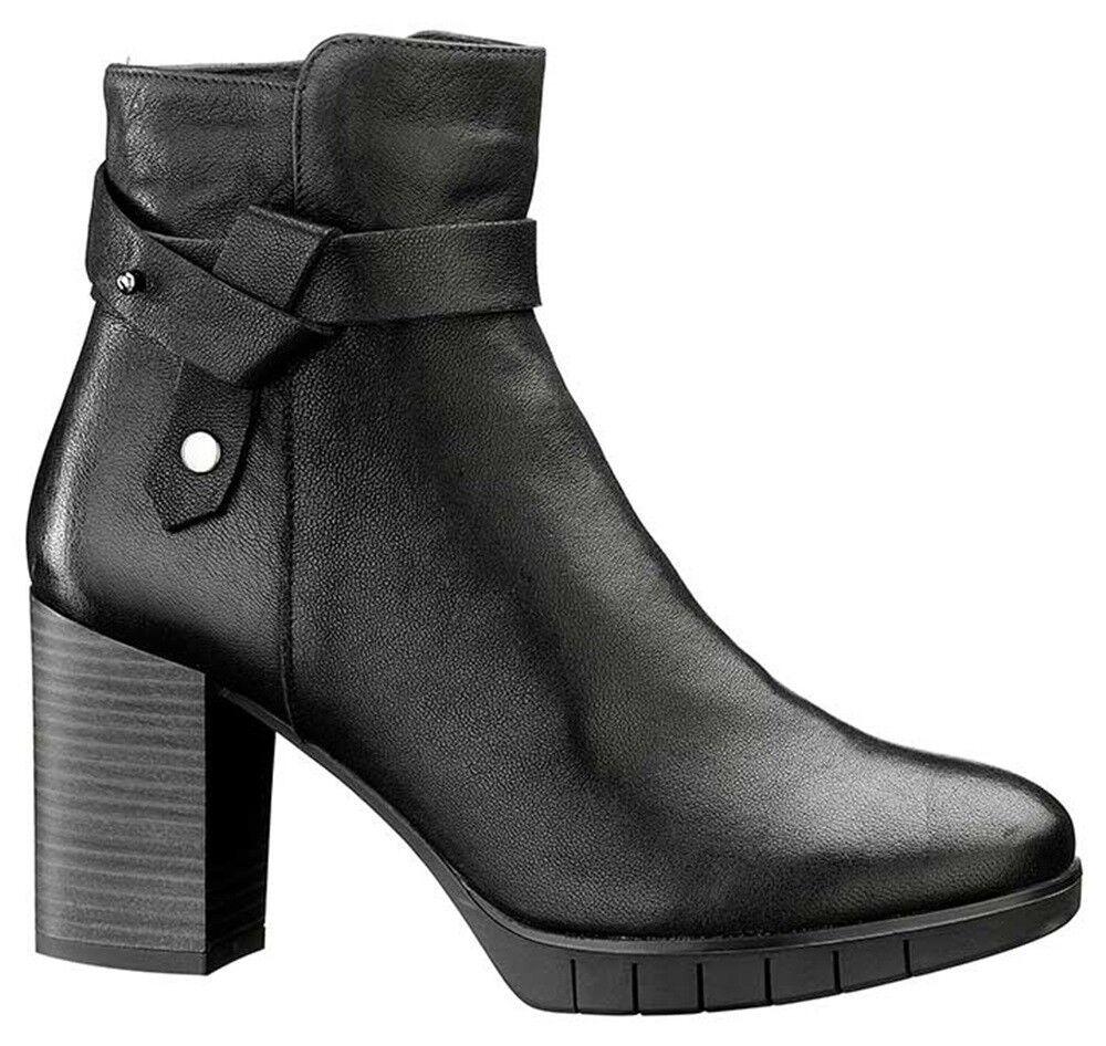 KEYS 7197 7197 KEYS NERO T MORO scarpe tronchetto stivaletti stivali donna pelle zeppa 93a673