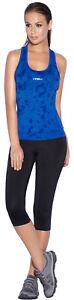 Haby Women's Sportswear Set Gym Outfit Printed Top Capri Leggings Pants