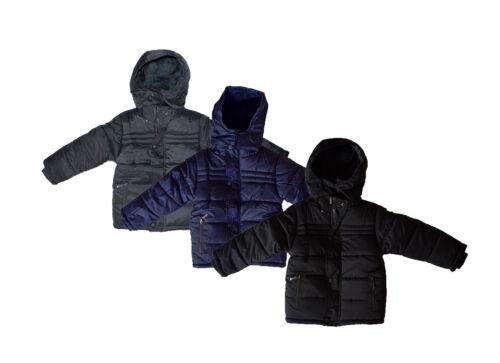 Enfants Veste avec Capuche Chaud Garçon Capuche Veste Hiver Doublure 98-152
