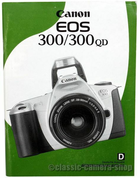 Canon Bedienungsanleitung CANON EOS 300 / 300QD date User Manual (X2561