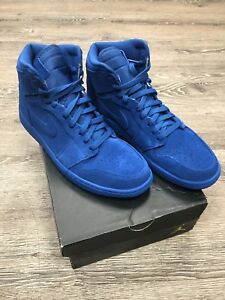 5c0ee7527f3ed5 Air Jordan 1 Retro High Blue Suede Game Royal 332550 404 Sz 12