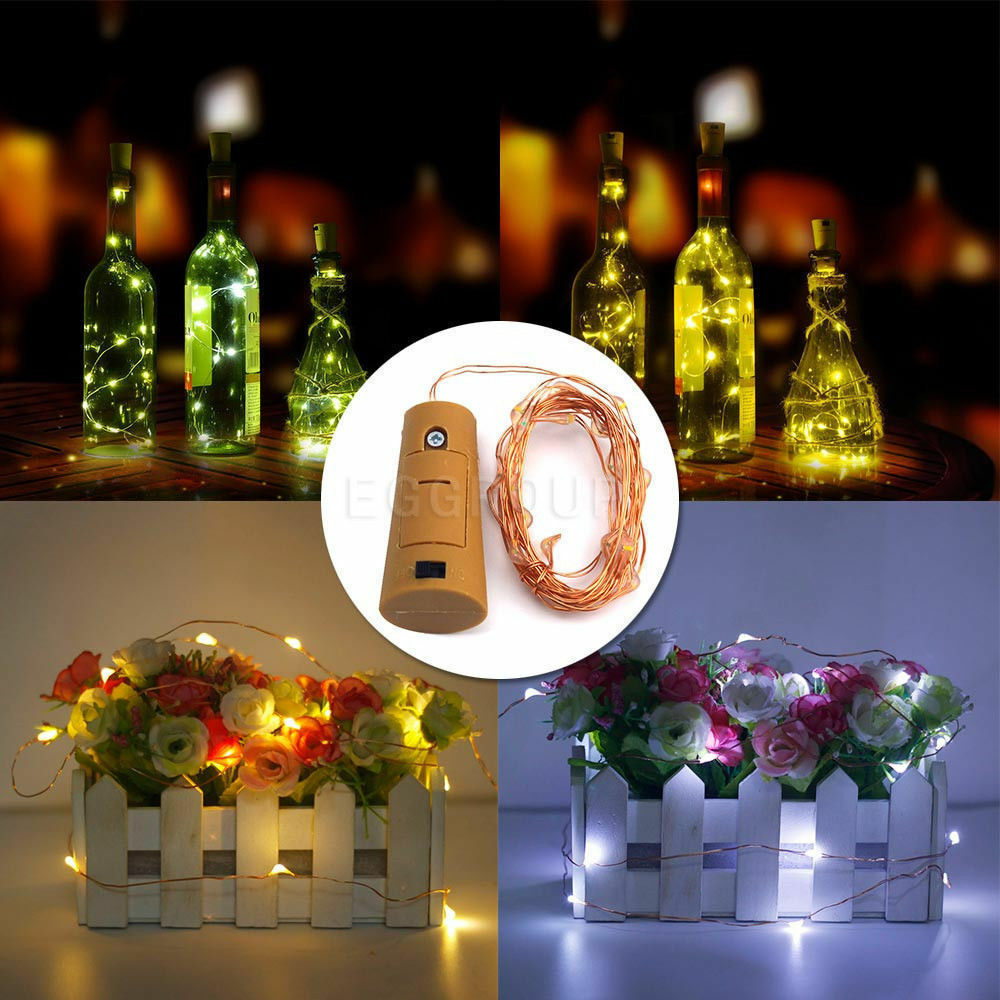 1 5m 20 Led Cork Shaped String Fairy Night Light Wine
