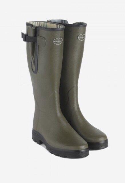 Le Chameau Men's Vierzon Jersey Lined Boot UK size 11 green Chameau