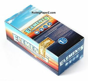 Elements-Rice-Cigarette-Rolling-Papers-1-1-2-Full-Box-25-Packs-33-leaves-each