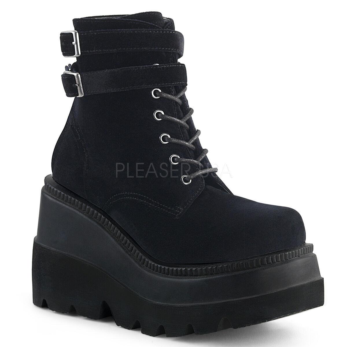 Demonia SHAKER-50 52 52 52 55 damen Wedge Platform Ankle Stiefel 0c189a