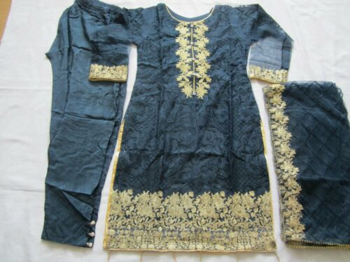 Fancy Net Chiffon Vestito Cucito embrodered Pakistano Indiano partito usura e Eid