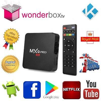 MXQ Pro 1Gb 8Gb Android 7 1 2 Quad Core Smart TV Box Kodi 18 3 IPTV  Wonderbox | eBay