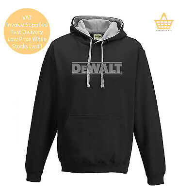 Tools Black Logo T-shirt Zipped Hoodie Polo Shirt Jumper Vest S-5XL Work Dewalt
