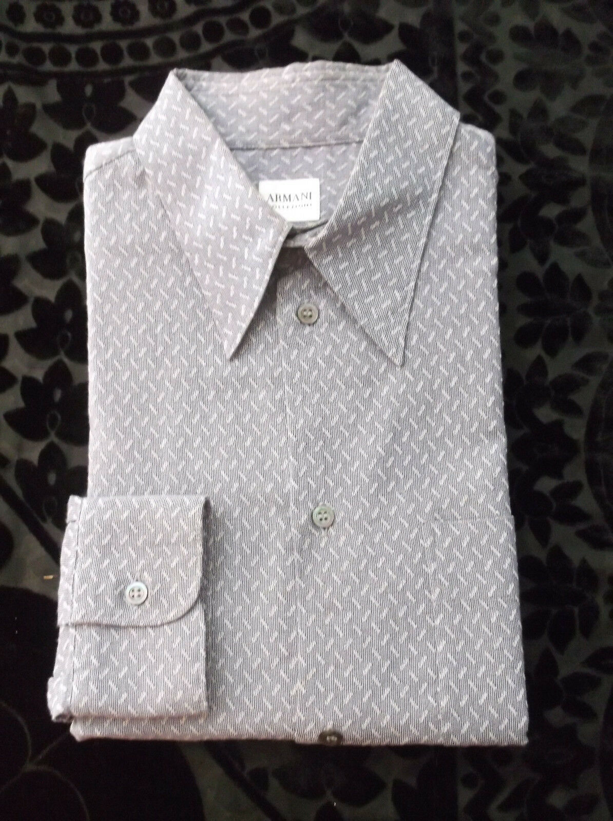 Armani Collezioni Men Luxurious Finely  Pattern casual shirt /Größe  M