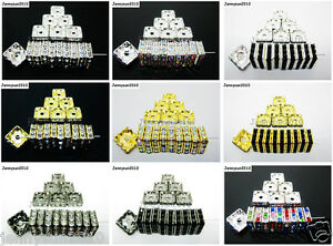 100pcs-Czech-Crystal-Rhinestones-Squaredelle-Spacer-Beads-5mm-6mm-8mm-10mm-Pick