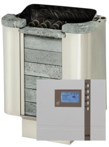 Saunaofen Set Sawo Cumulus 9 kW mit Saunasteuerung ECON D2 EOS mit Saunasteine