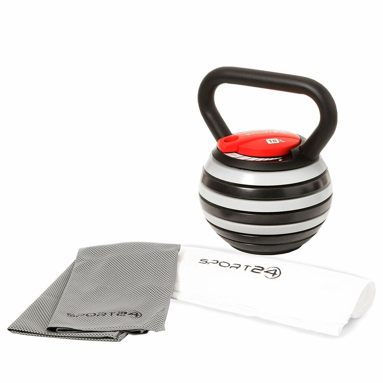 Sport24 Verstellbar Verstellbar Verstellbar Gusseisen Kugelhantel Gratis Gewichte Training Fitness 9eccb6