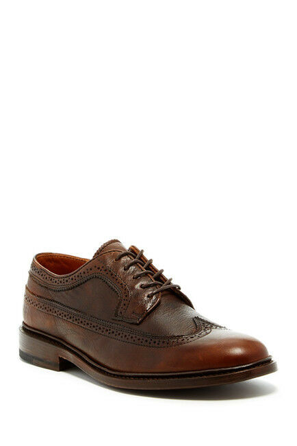 Frye James Men Wingtip Derby Lace-Up shoes - cognac brown - US size 8.5