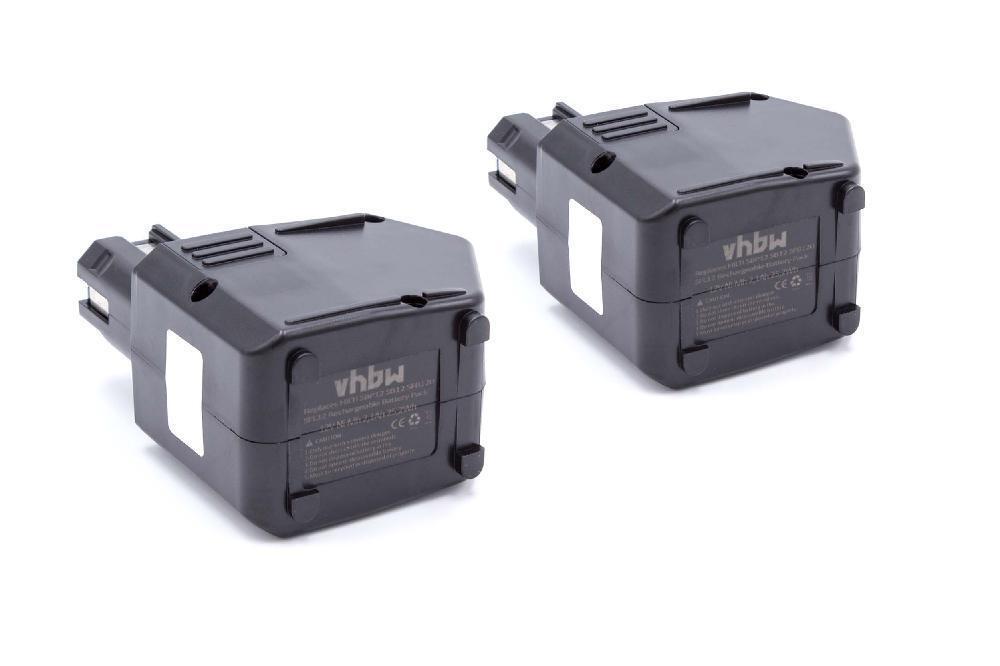 2x BATTERIA VHBW 2100mAh 12V nero per Hilti SBP12, SFB125, SFB105, 00315082