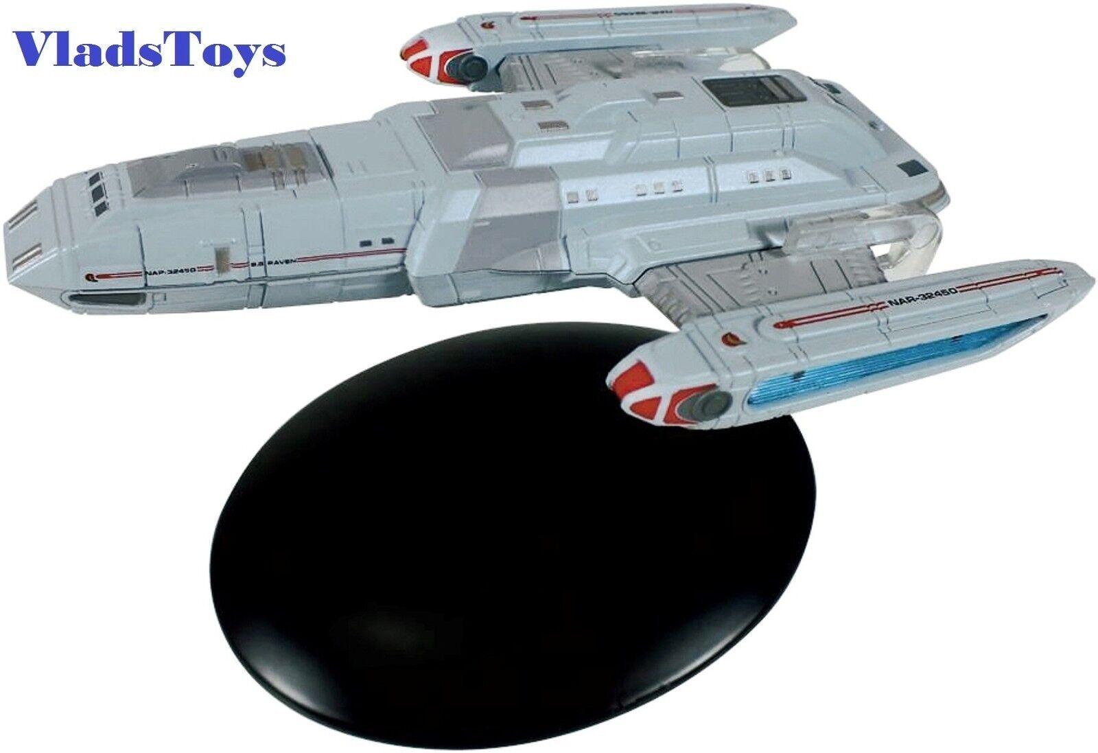 Eaglemoss Star Trek Starfleet S.s. Raven Exploration Vessel NAR-32450 w Mag