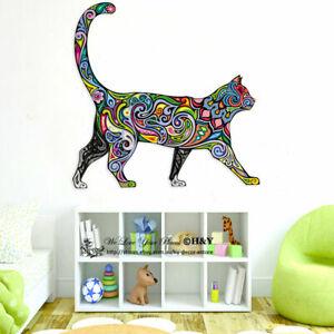 Rainbow-Pattern-Cat-Wall-Stickers-Kids-Nursery-Decor-Animal-Decal-Art-Mural