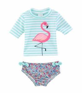 3c5f4abfb0483 CARTER'S® Baby Girls' 18M, 24M Flamingo Rashguard 2-Piece Swim Set ...